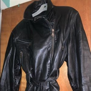 Express. BLACK LEATHER JACKET. soft as butter.
